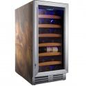 Vitrina de vinuri Nevada Wood NW33S-SW, 33 sticle, lemn palisandru