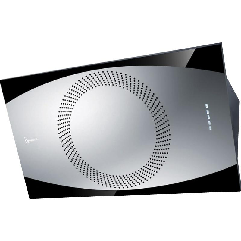 Hota design Baraldi Noa 01NOA090STB90, 90 cm, 900 m3/h, otel inoxidabil/negru