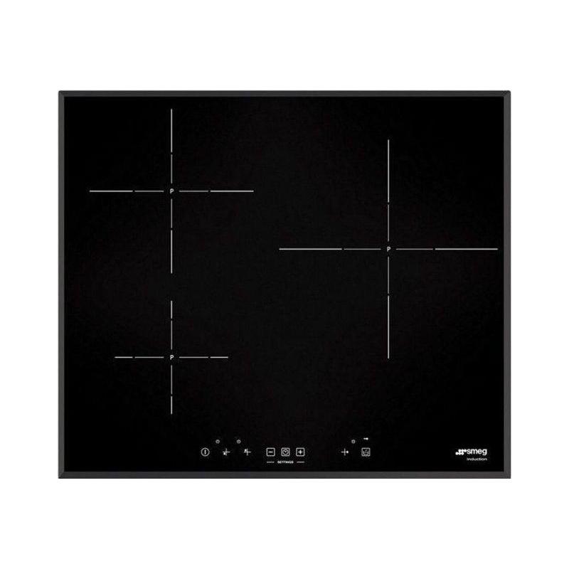 Plita incorporabila Smeg Universal SI5633B, 60 cm, plita inductie, 3 zone gatit, sistem siguranta, sticla neagra