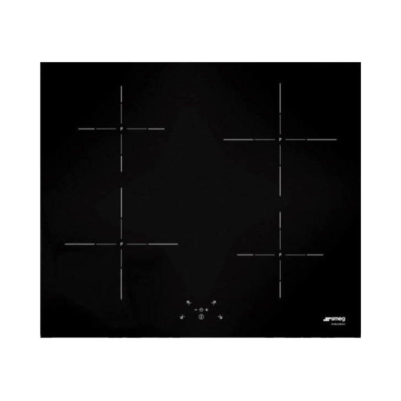Plita incorporabila Smeg Linea SI5643D, 60 cm, plita inductie, 4 zone gatit, sistem siguranta, sticla neagra