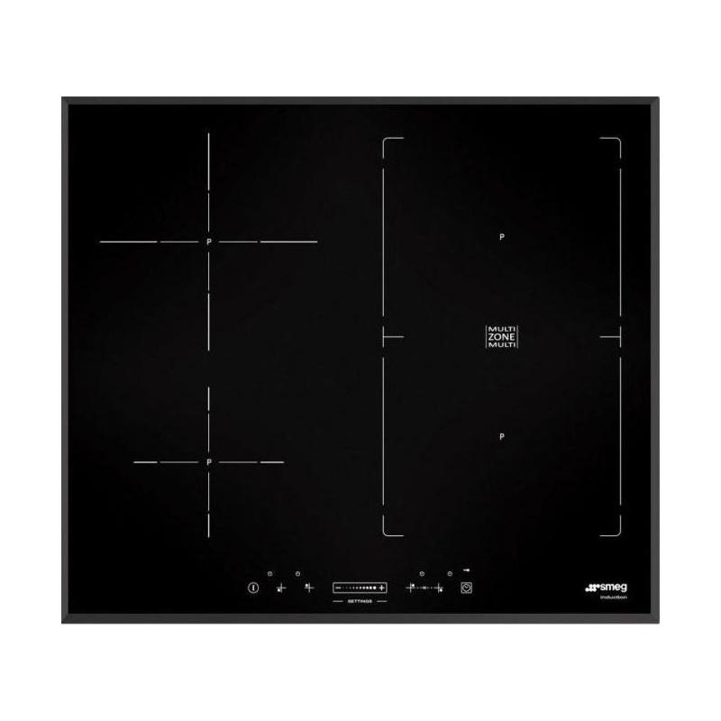 Plita incorporabila Smeg Universal SIM561B, 60 cm, plita inductie, 2+2 zone gatit multizone, sistem siguranta, sticla neagra
