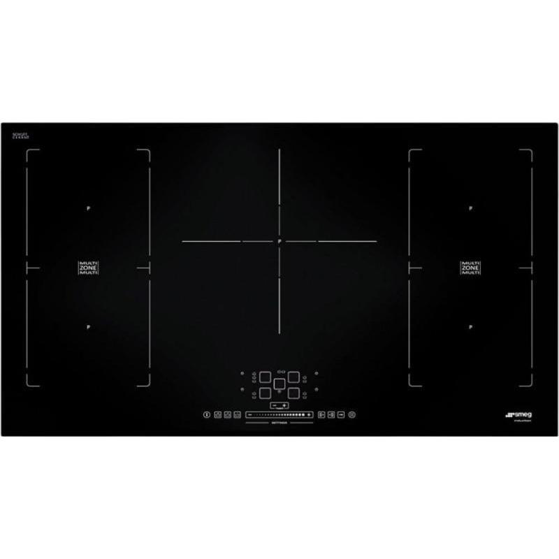 Plita incorporabila Smeg Universal SIM592D, 90 cm, plita inductie, 1+4 zone gatit multizone, sistem siguranta, sticla neagra