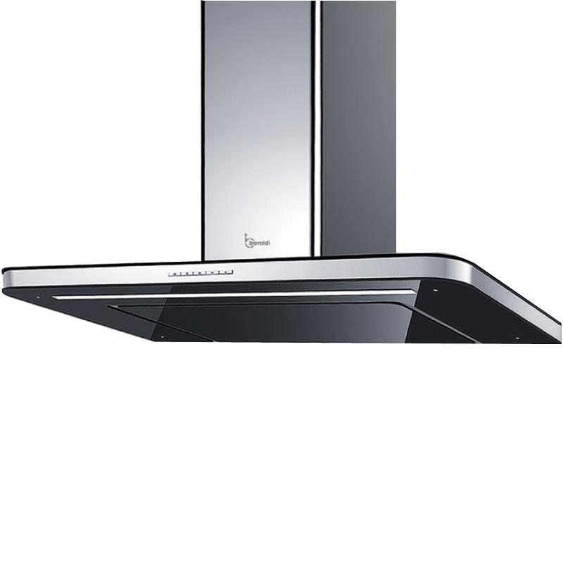 Hota design Baraldi Stivia 01STV090STB70, 90 cm, 700 m3/h, sticla neagra/inox
