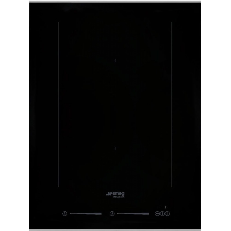 Plita incorporabila Smeg Dolce SIM631WLDX, 38 cm, plita inductie, 2 zone gatit, sistem siguranta, sticla neagra