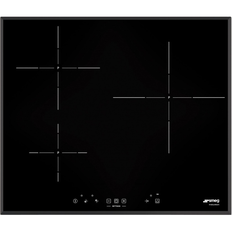 Plita incorporabila Smeg Universal SI5631D, 60 cm, plita inductie, 3 zone gatit, sistem siguranta, sticla neagra