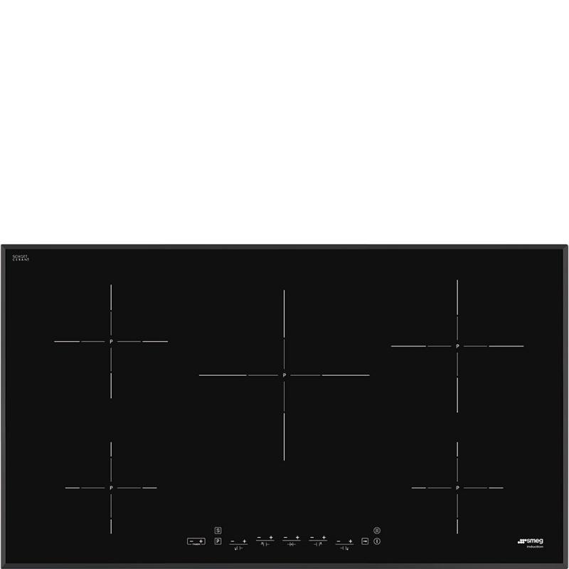 Plita incorporabila Smeg Universal SI5952D, 90 cm, plita inductie, 5 zone gatit, sistem siguranta, sticla neagra