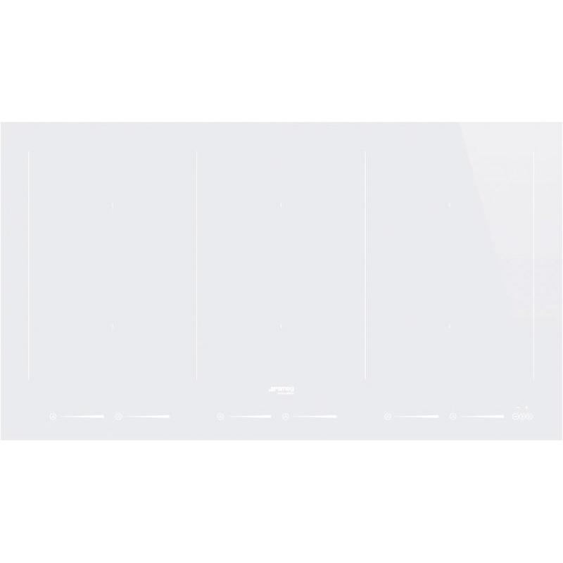 Plita incorporabila Smeg Universal SIM693DW, 90 cm, plita inductie, 6 zone gatit multizone, sistem siguranta, sticla alba