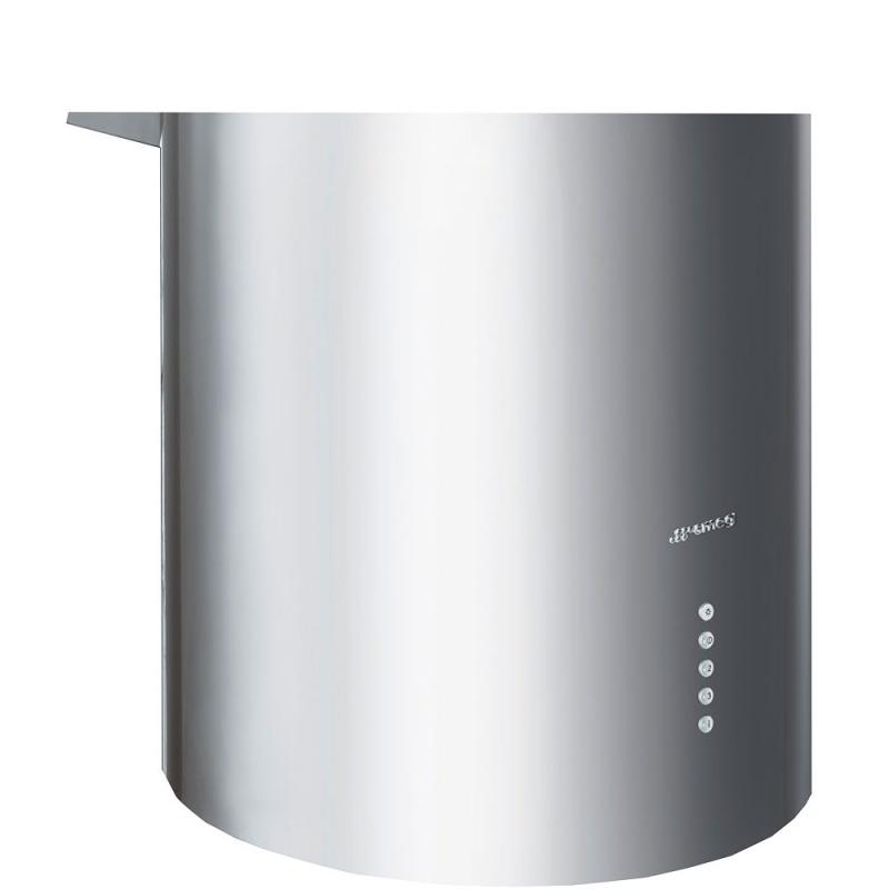 Hota decorativa cilindrica Smeg Linea KR37XE, 37 cm, 660 m3/h, inox