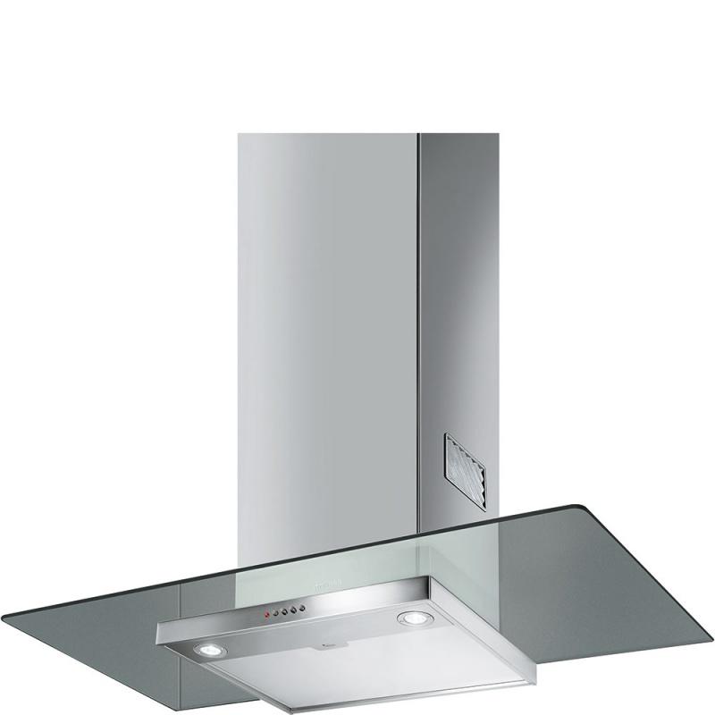 Hota decorativa Smeg Universal KFV92DE, 90 cm, 560 m3/h, sticla/inox