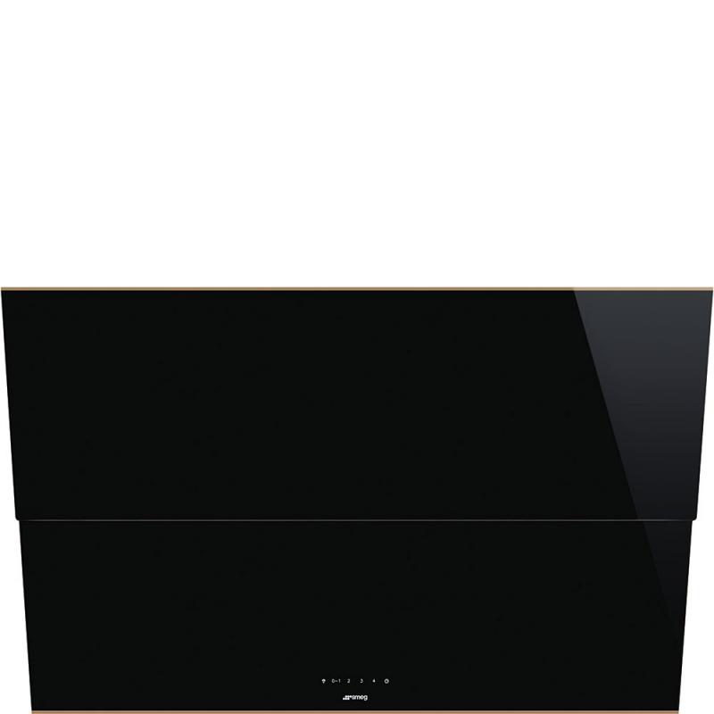 Hota decorativa Smeg Dolce KSVV90NRA, 90 cm, 770 m3/h, sticla neagra