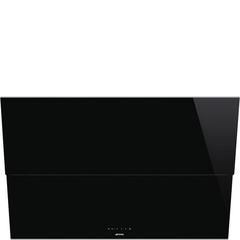 Hota decorativa Smeg Dolce KSVV90NX, 90 cm, 770 m3/h, sticla neagra