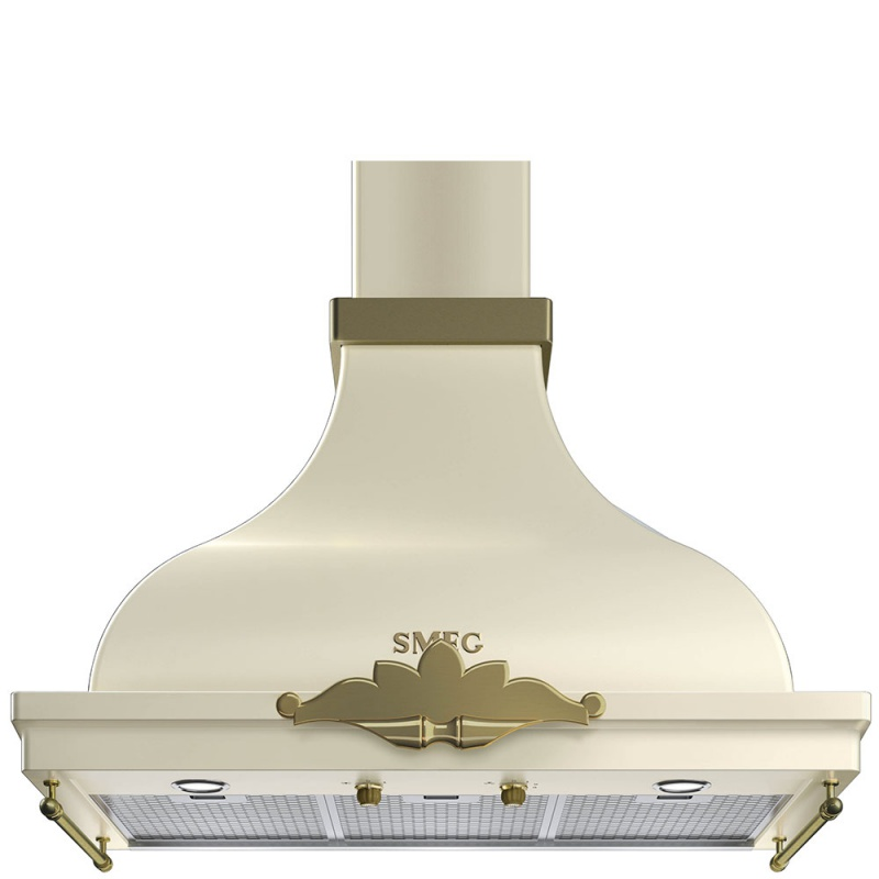 Hota decorativa Smeg Cortina KCM900POE, 90 cm, 794 m3/h, crem