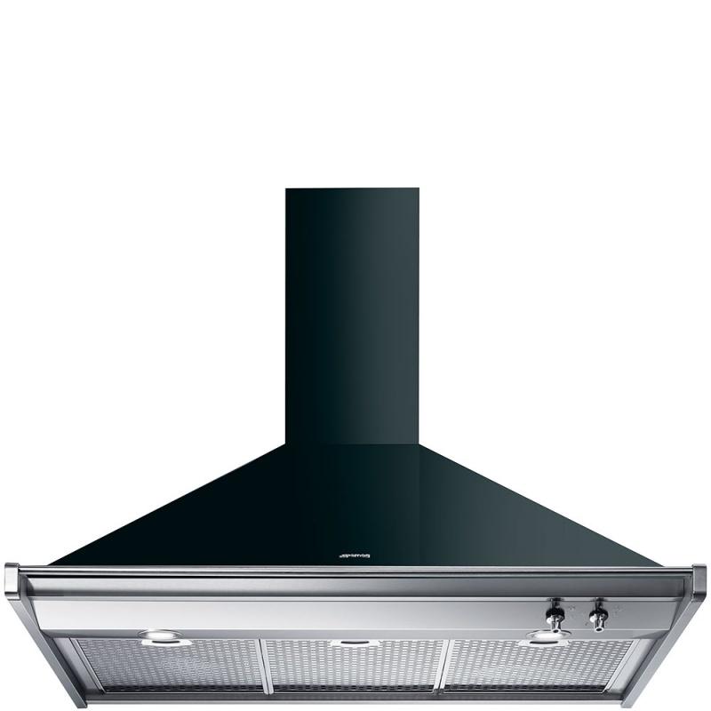 Hota decorativa Smeg Classica KD100NE, 100 cm, 773 m3/h, negru