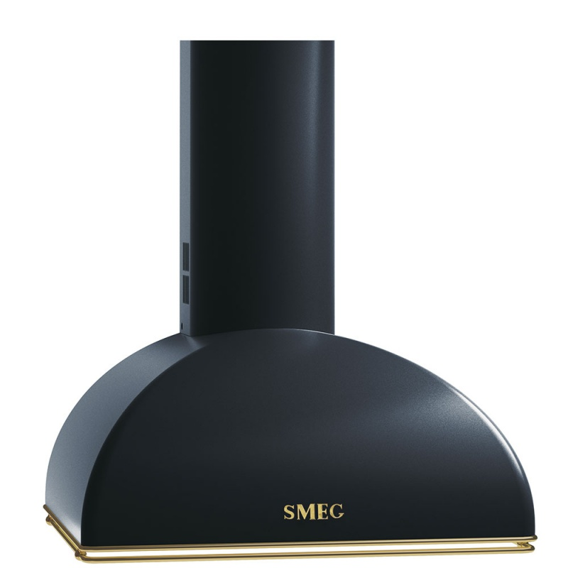 Hota decorativa Smeg Coloniale KS59AE, 60 cm, 754 m3/h, negru antracit