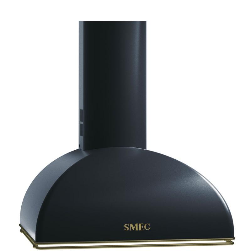 Hota decorativa Smeg Coloniale KS59AOE, 60 cm, 754 m3/h, negru antracit