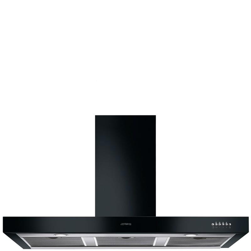 Hota decorativa Smeg Victoria KS110BLE, 110 cm, 702 m3/h, negru