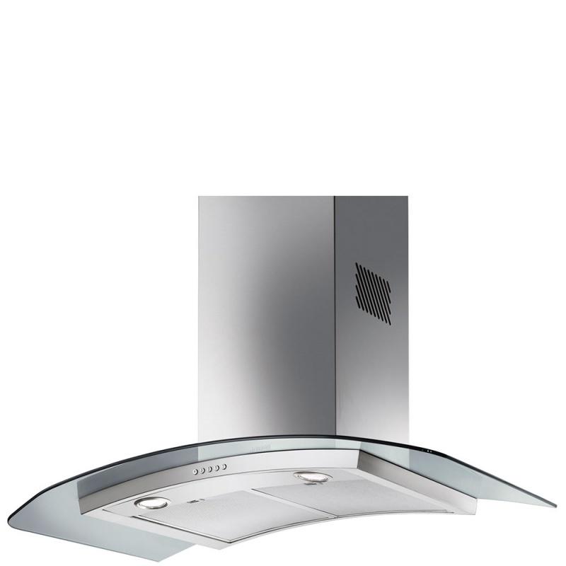 Hota decorativa Smeg Linea KV90XE, 90 cm, 764 m3/h, sticla/inox