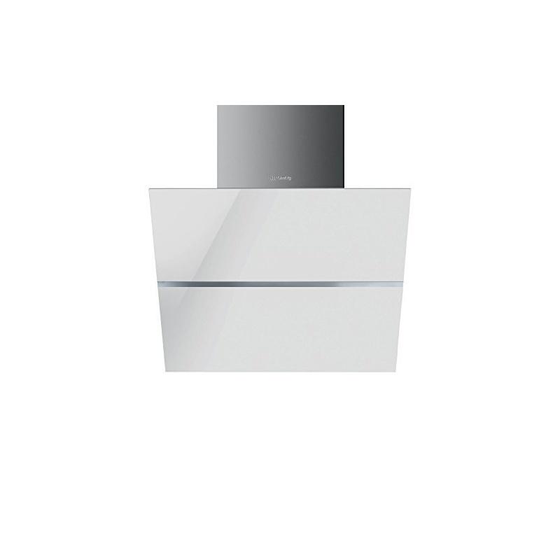 Hota decorativa Smeg Linea KCV60BE, 60 cm, 690 m3/h, sticla alba/inox