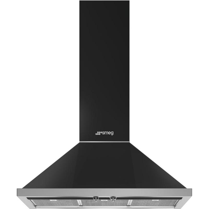 Hota decorativa Smeg Portofino KPF9AN, 90 cm, 781 m3/h, negru antracit