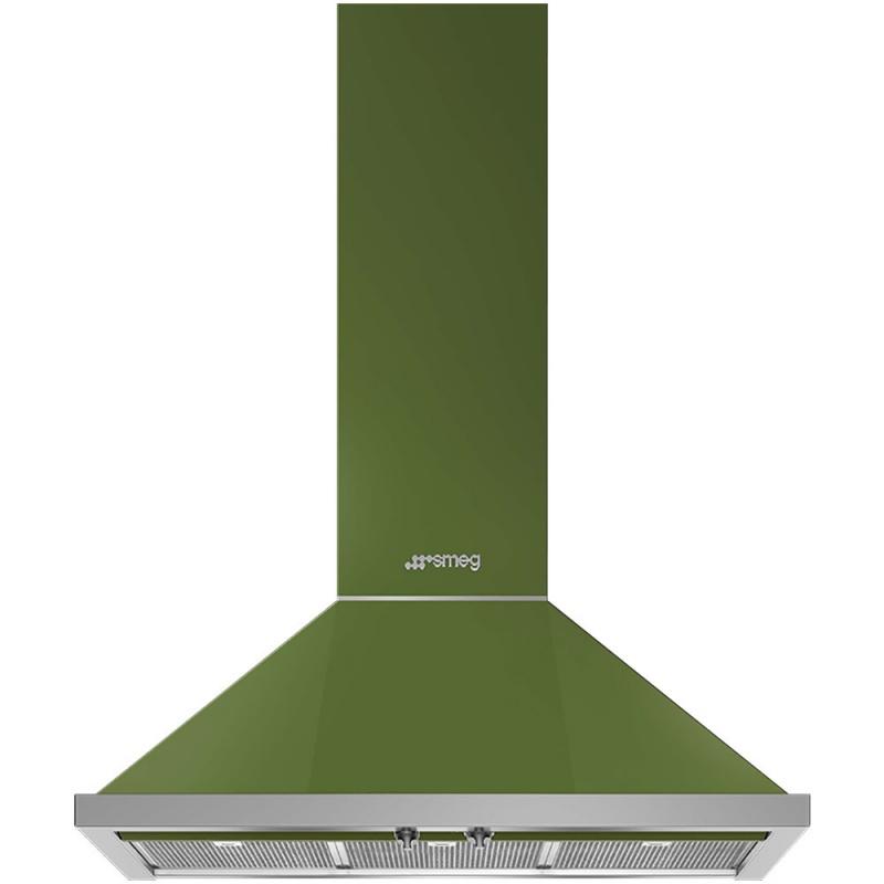 Hota decorativa Smeg Portofino KPF9OG, 90 cm, 781 m3/h, verde