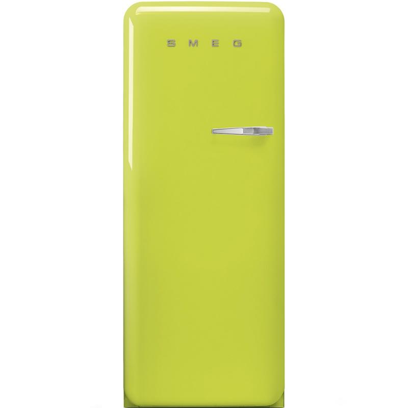Frigider cu 1 usa SMEG FAB28LVE1, No Frost, Clasa A++, 222L, verde lamaie