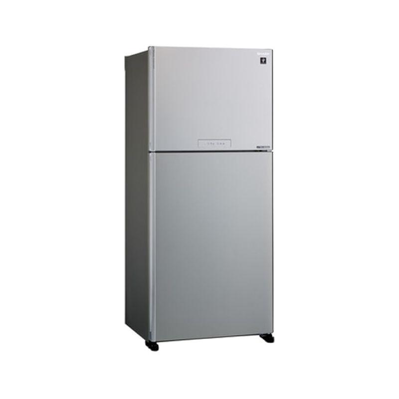 Frigider 2 usi SHARP SJXG690MSL, 556l, Clasa A++, Plasmacluster,Hybrid Coolinng System, J-tech Inverter, argintiu