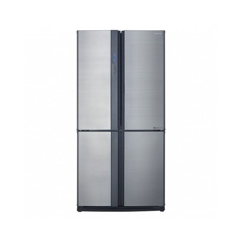 Side by side SHARP SJEX820FSL, 605l, Clasa A++,Hybrid Coolinng System, argintiu