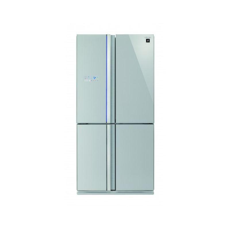 Side by side SHARP SJFS820VSL, 605l, Clasa A++,Hybrid Coolinng System, sticla argintie