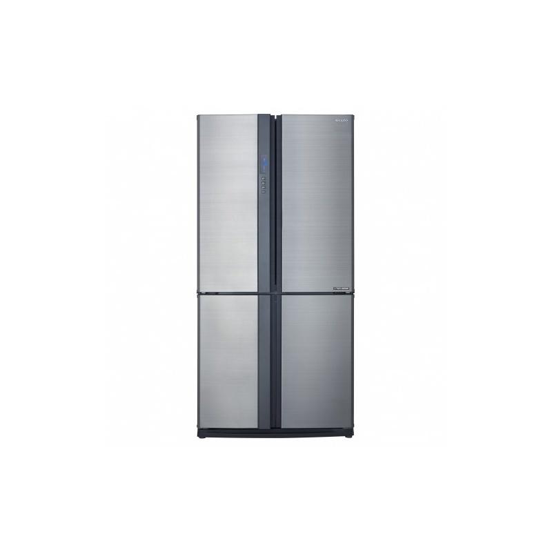Side by side SHARP SJEX770FSL, 556l, Clasa A++,Hybrid Coolinng System, argintiu