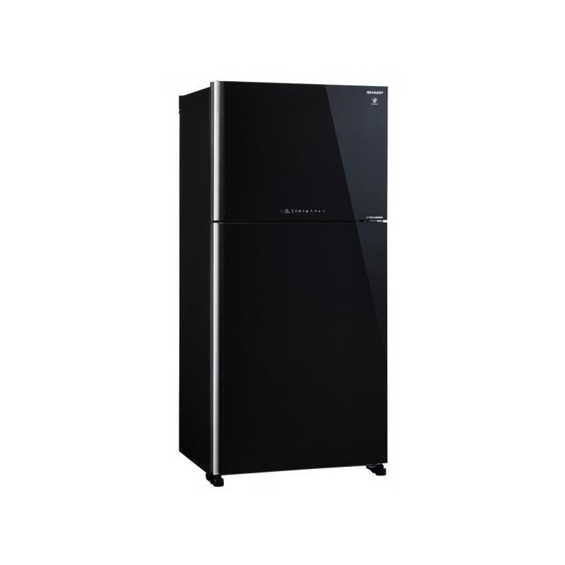Frigider 2 usi SHARP SJXG740GBK, 600l, Clasa A++, Plasmacluster,Hybrid Coolinng System, J-tech Inverter, sticla neagra