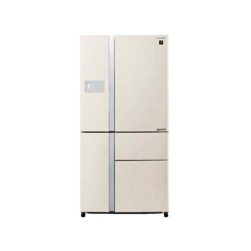 Side by side SHARP SJPX830FBE, 665l, Clasa A++, Plasmacluster,Hybrid Coolinng System, J-tech Inverter, Bej
