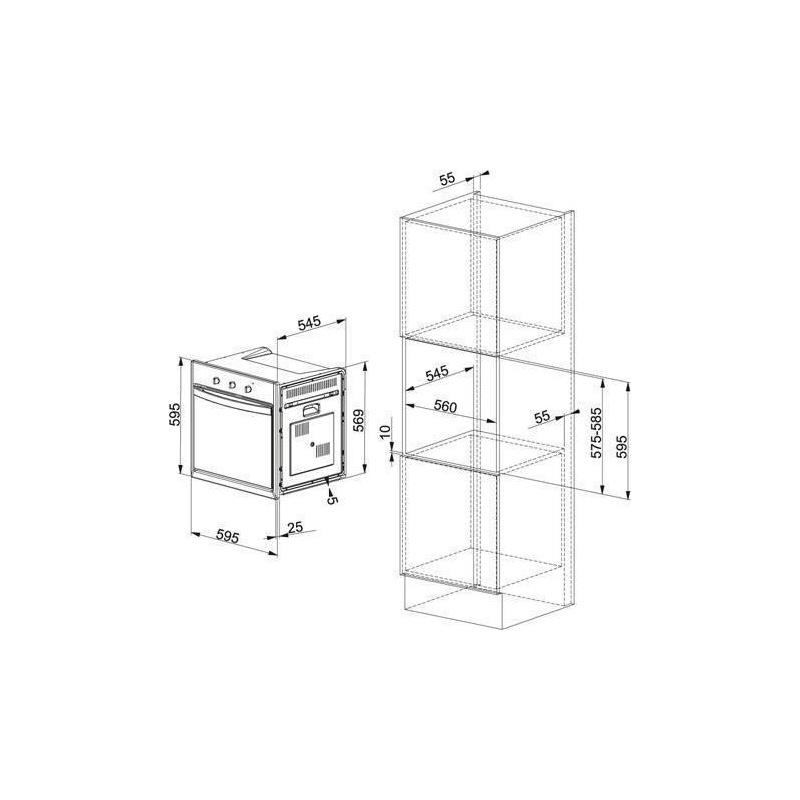 Cuptor incorporabil Franke Country CM 65 M XS, 60cm, volum 59l, 7 functii, grill electric, inox