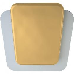 Hota decorativa de perete Sirius SLTC 103 SQUARES-WHITE+GOLD, 70 cm, 748 m3/h, sticla+ceramica, alb/auriu