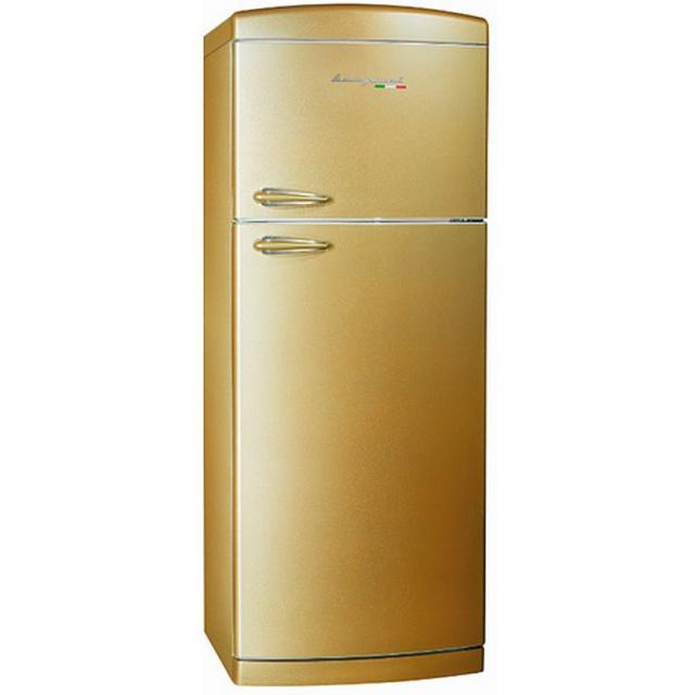 Frigider cu 2 usi Retro Bompani, Clasa A+, 400 litri, Latime 70 cm, Rosu