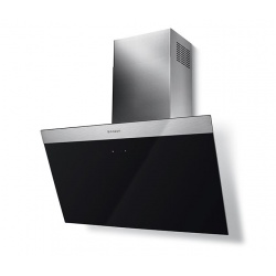 Hota decorativa Faber Daisy EG6 LED BK A55, 55 cm, 550 m3/h, negru