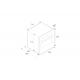 Cuptor incorporabil Bertazzoni Design F30CONXT, 76cm, 116l, grill electric, convectie, curatare pirolitica, sticla neagra/inox