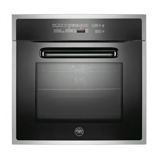Cuptor incorporabil Bertazzoni Design F60CONXE/12, 60cm, 65l, grill, convectie, autocuratare pirolitica, stica neagra / inox