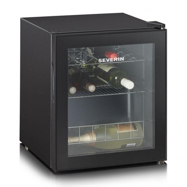 Vitrina vinuri Severin KS9889,A ,capacitate:15 sticle,dezghetare,negru