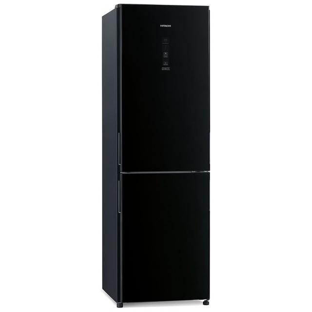Combina frigorifica Hitachi R-BG410PRU6X(XGR), 330 L, clasa A++, 219 kWh/an, NoFrost, Negru Oglinda