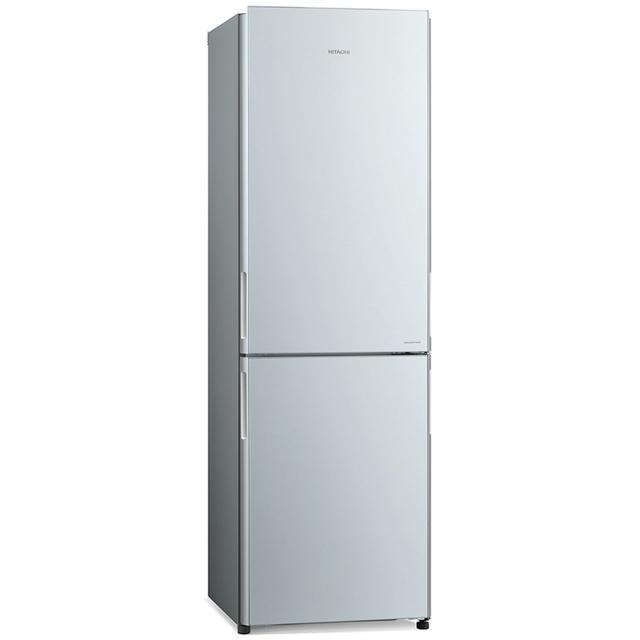 Combina frigorifica Hitachi R-BG410PRU6X(XGR), 330 L, clasa A++, 219 kWh/an, No Frost, Negru Oglinda