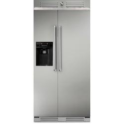 Side by Side Steel Ascot AFR9F , Clasa A+, 536L, No Frost, Dispenser Apa, Twist Ice Maker, gri nisip