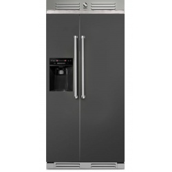 Side by Side Steel Genesi GFR9 , Clasa A+, 543L, No Frost, Dispenser Apa / Gheata, mov