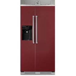 Side by Side Steel Genesi GFR9 , Clasa A+, 543L, No Frost, Dispenser Apa / Gheata, negru antracit
