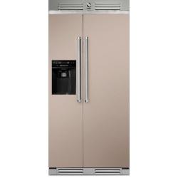Side by Side Steel Genesi GFR9 , Clasa A+, 543L, No Frost, Dispenser Apa / Gheata, crem inchis