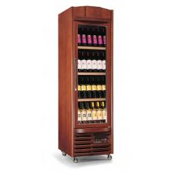 Vitrina de vinuri verticala Tecfrigo EnoPrestige 400(4TV/1TV), 112 sticle, 1 zona temperatura, lemn maro