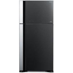 Frigider 2 usi Hitachi R-VG660PRU7(GGR), No Frost, A++, 550L, inaltime 183,5 cm, sticla neagra antracit