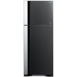Frigider 2 usi Hitachi R-VG540PRU7(GBK), No Frost, A++, 450L, inaltime 183,5 cm, sticla neagra