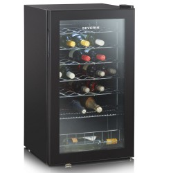 Vitrina vinuri Severin KS9894,A,136 kWh / an, 84 cm / 33 sticle,negru