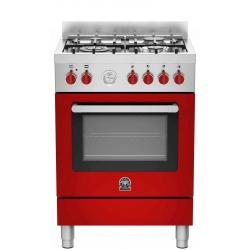 Aragaz Bertazzoni La Germania Prima PRM604XT, 60x60 cm, 4 arzatoare gaz , cuptor electric, aprindere electronica, inox
