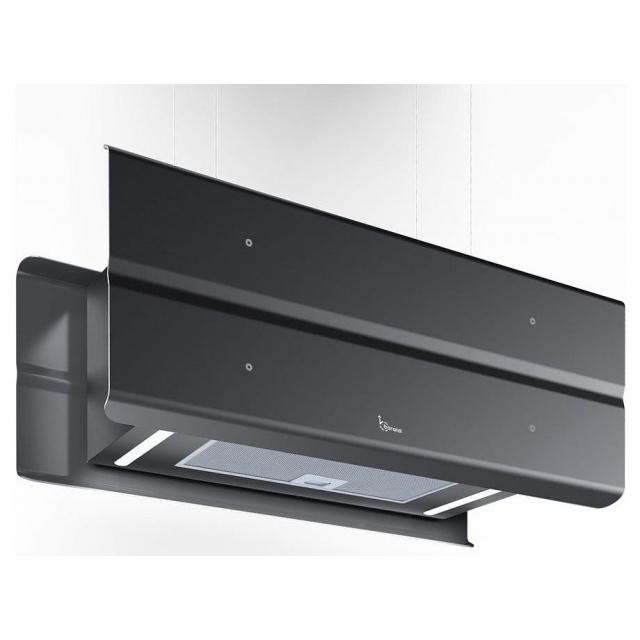 Hota design suspendata Baraldi Modus 01MOD090BL80, 90 cm, 800 m3/h, negru